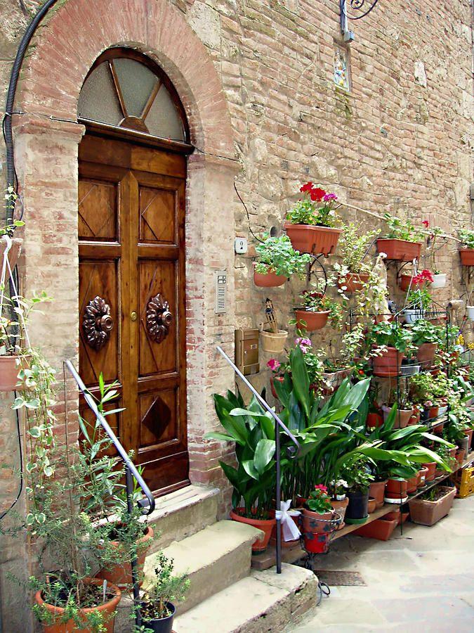 Front Door  in Tuscany region of Italy -  by Ellen Henneke