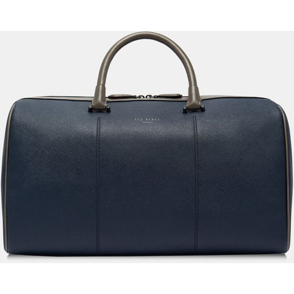 Crossgrain holdall (£179) ❤ liked on Polyvore featuring men's fashion, men's bags, navy, mens holdall bag and ted baker mens bags