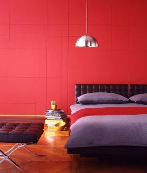 Bright Bold Red Works Well Teamed With Purple And Black Spare Bedroom IdeasBedroom
