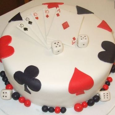 #Casino I #Card I #Poker themed #cake I Ideas