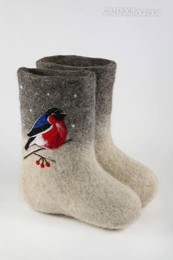 Valenki Russian Traditional Handmade Felt Home Boots 100% Wool Best Souvenir Clothing, Shoes & Accessories