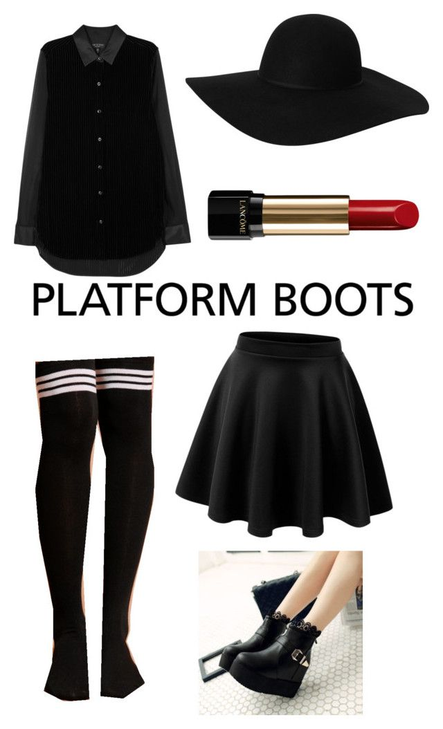 """Platform Boot Aya Sato and Bambi style"" by wishybone ❤ liked on Polyvore featuring rag & bone, Monki and Lancôme"