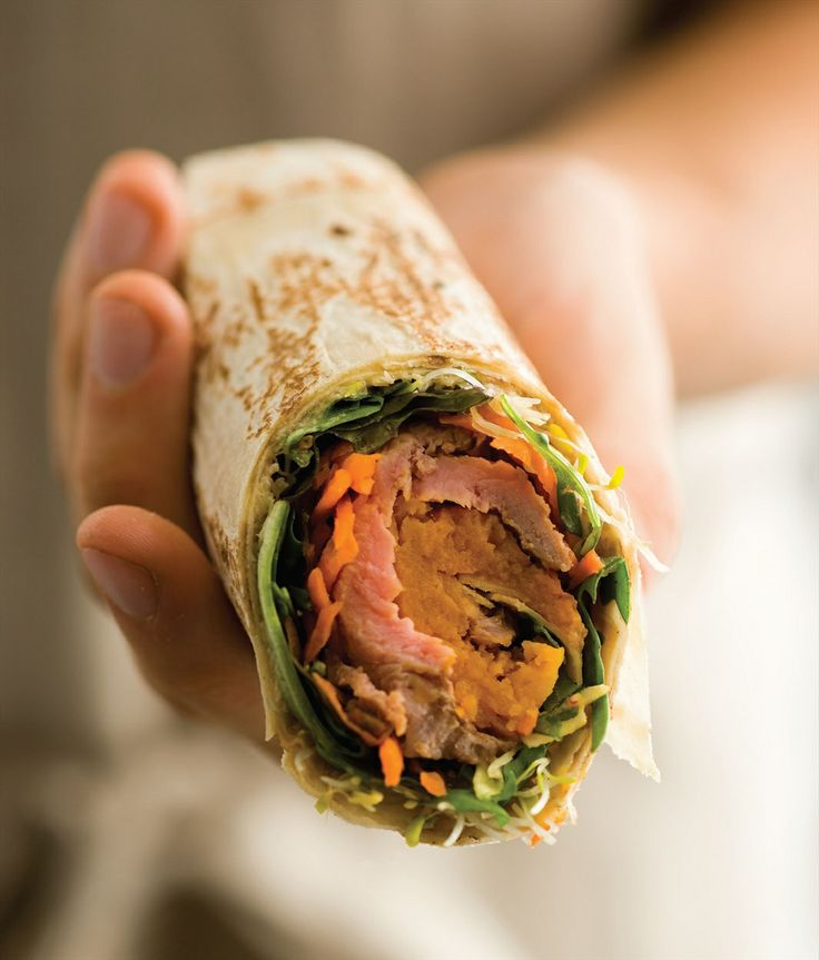 Tasty beef and salad wraps recipe by Gabriel Gaté | Cooked