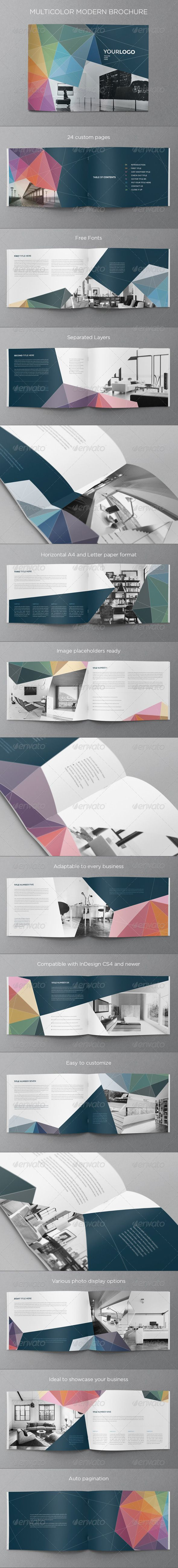 This brochure is an ideal way to showcase your properties. It is a horizontal design, available in A4 and Letter paper formats.