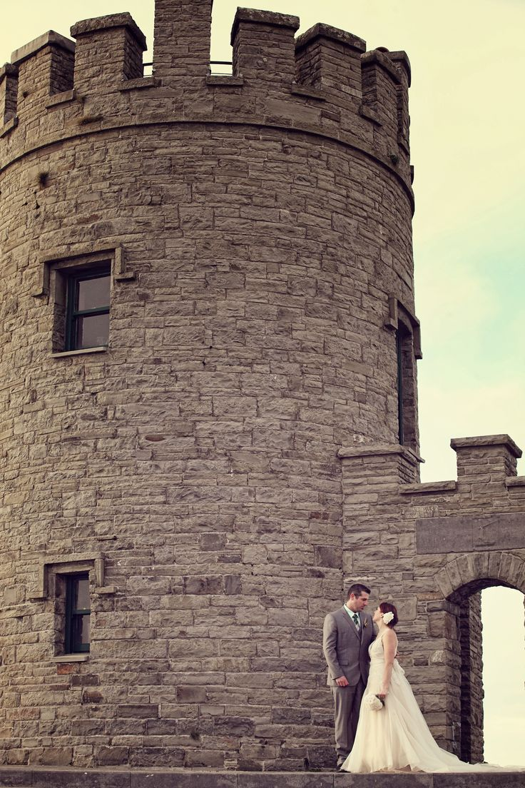The couple at the O'Briens tower