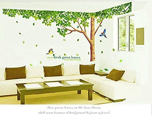Good Colorfulworld Baum Wandaufkleber Wandaufkleber Dschungel Wald Tier Wandtattoo Wandsticker Aufkleber DIY for Children Room Gift