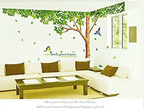 Vintage Colorfulworld Baum Wandaufkleber Wandaufkleber Dschungel Wald Tier Wandtattoo Wandsticker Aufkleber DIY for Children Room Gift