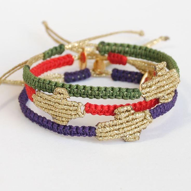 Golden Cross Olga macrame bracelets