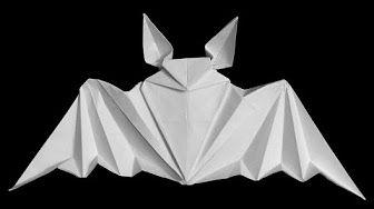 Very easy origami Bat (Tadashi Mori) - YouTube