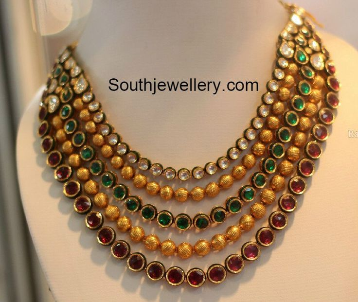 Kundan Step Necklace photo