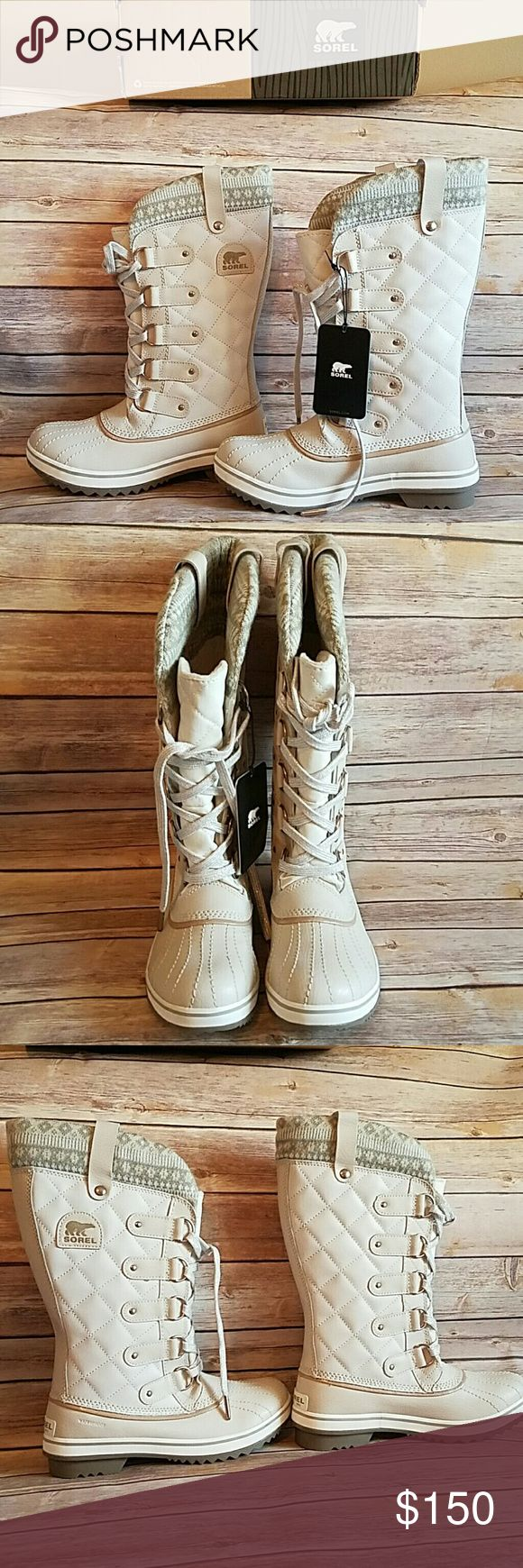 NWT SOREL Joan of Arctic Knit Duck Boots New with tags. SOREL Joan of Arctic Knit Duck Boots in Fawn, Cream White.    Size 7 Sorel Shoes Winter & Rain Boots