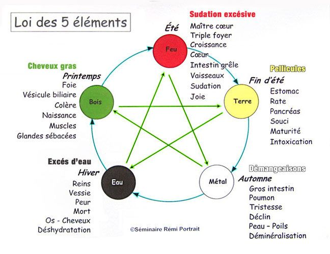 Préférence Principe de la loi des 5 éléments, médecine chinoise appliqué à la  BE39