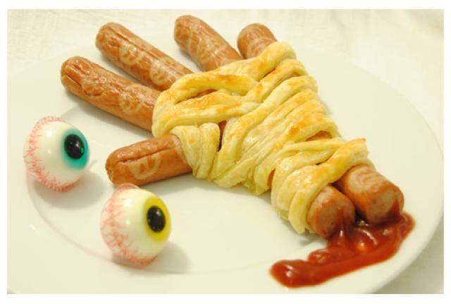 Comparte Recetas - Mano terrorífica para fiesta de Halloween