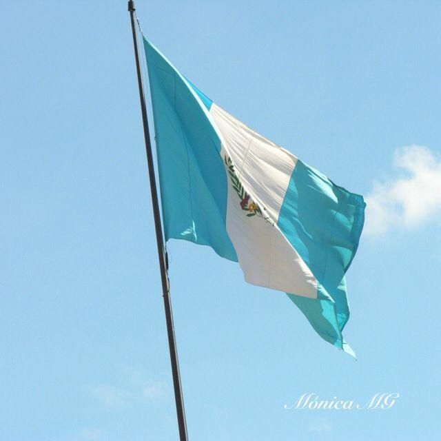 Bandera de Guatemala en Paseo Cayalá