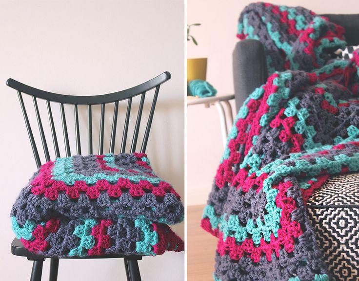 338 Best Crochet Granny Blanketsafghans Images On Pinterest