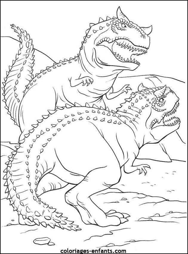 coloriages et jeux de dinosaures - Coloriage Dinosaure Imprimer