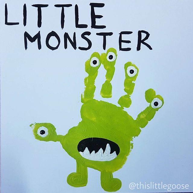 Monster handprint art