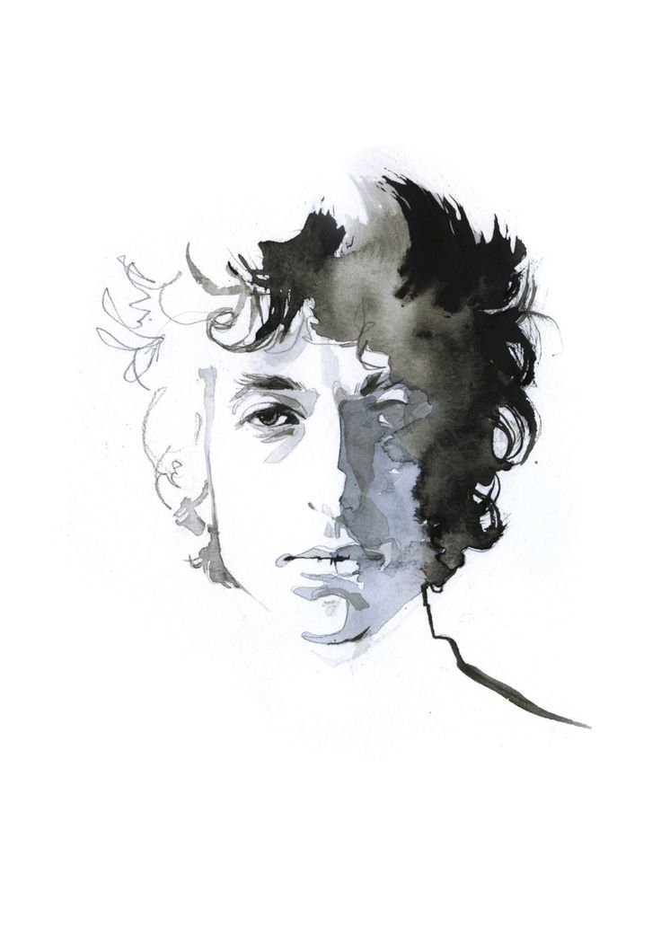 Bob Dylan, watercolor print by JessineHein on Etsy https://www.etsy.com/listing/265171671/bob-dylan-watercolor-print