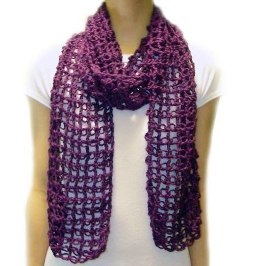 Absolutely Easy Lace Scarf – PDF Crochet Pattern – Instant Download