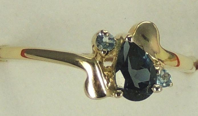 Seltener 0,61 Carat London und Schweiz blauer Topas / BLautopas Ring, 925 Silber