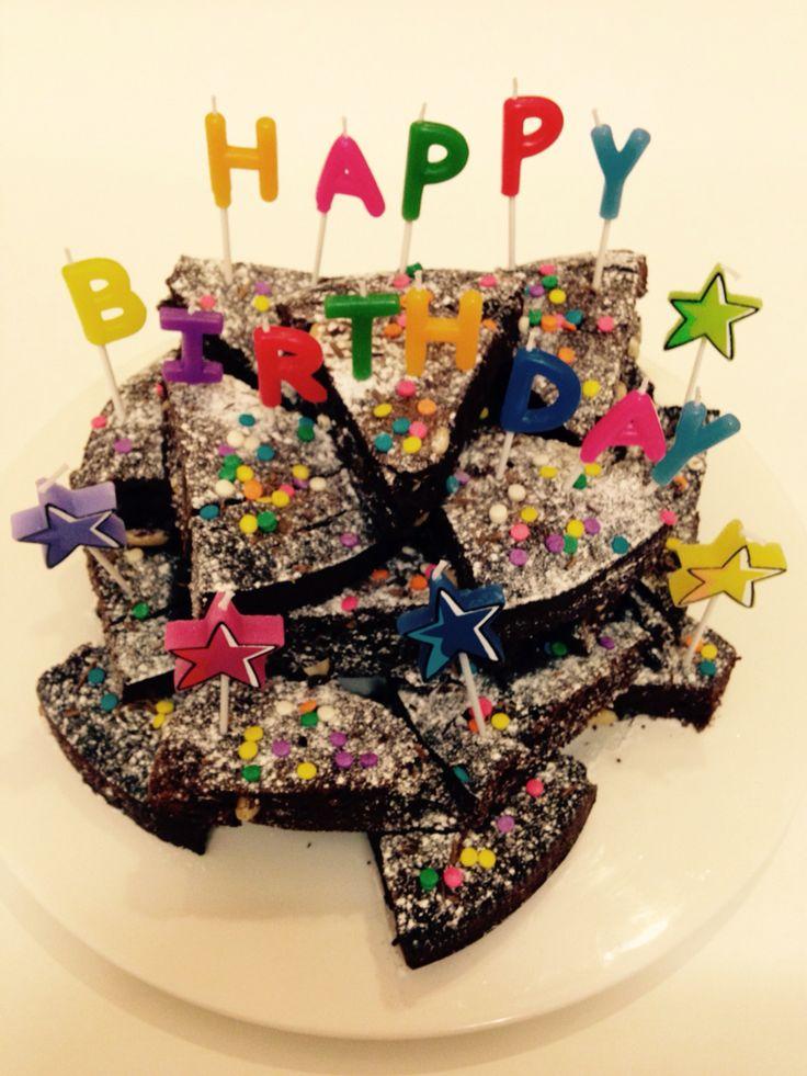 Happy birthday brownie