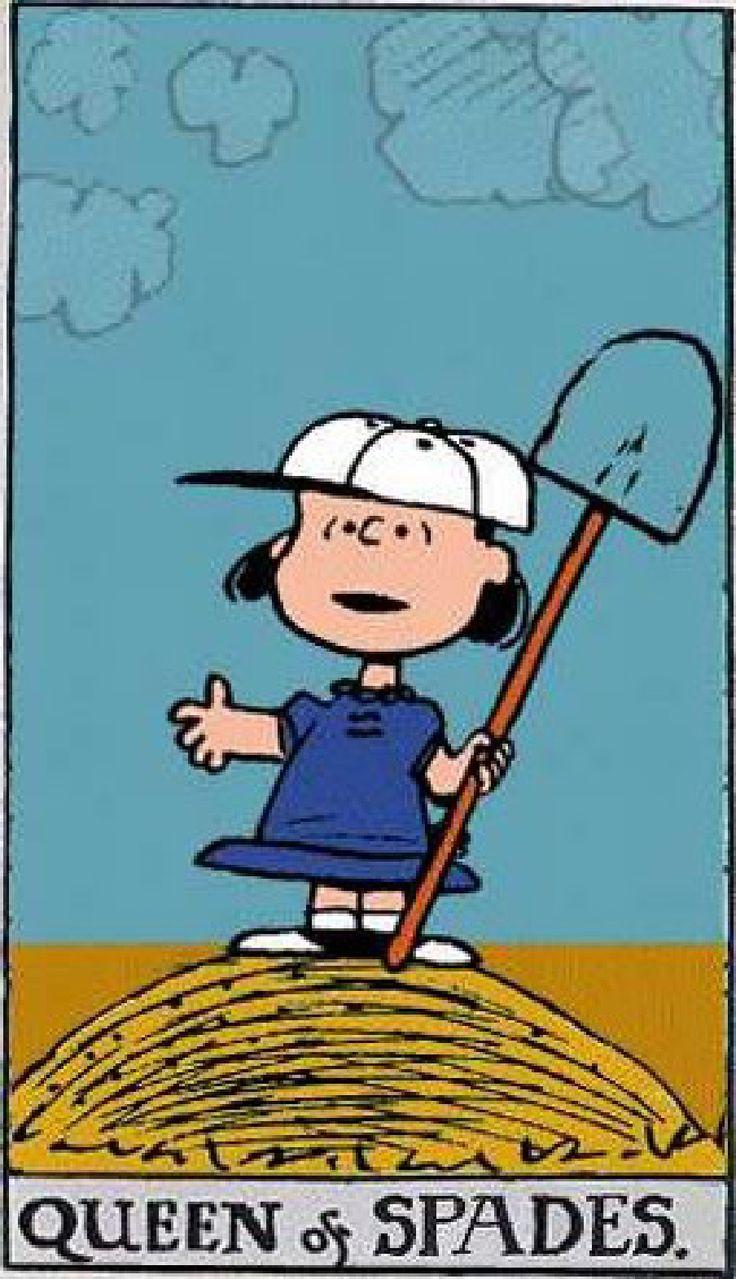 Peanuts Tarot: Queen of Spades
