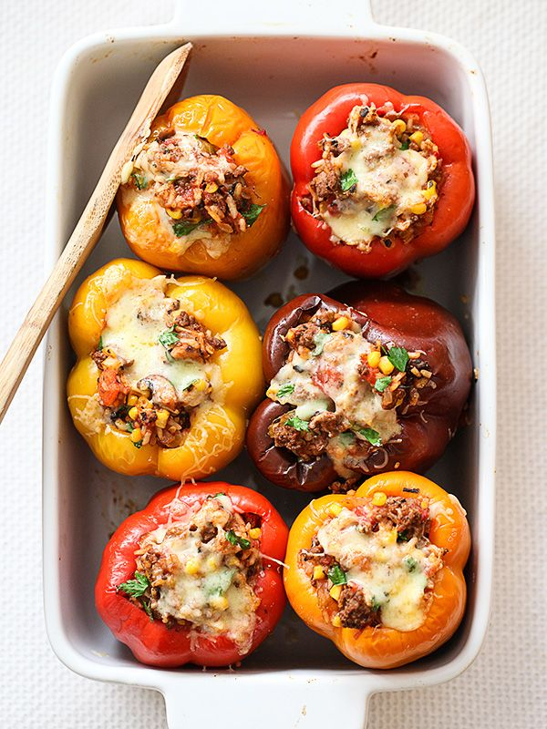Stuffed Bell Peppers are one of my most popular #recipes, and always a family favorite | foodiecrush.com