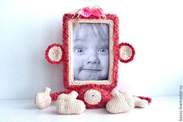 Купить Фоторамка Обезьянка - символ 2016 года - девочке, милый подарок, милая игрушка, фоторамка