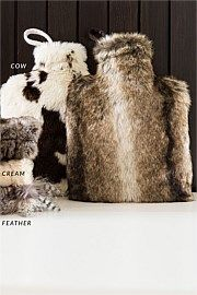 Luxe Faux Fur Hot Water Bottle Cover