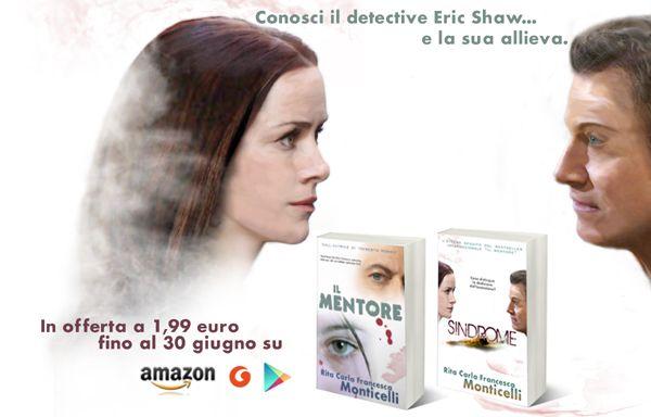 """Inizia l'estate col detective Shaw: """"Il mentore"""" e """"Sindrome"""" in offerta fino al 30 giugno http://dld.bz/eCTVn"""