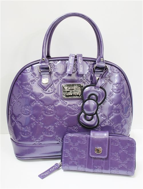 Loungefly Hello Kitty Acai Patent Embossed Tote Bag   wallet...I have this.   26ef2929e4a7c