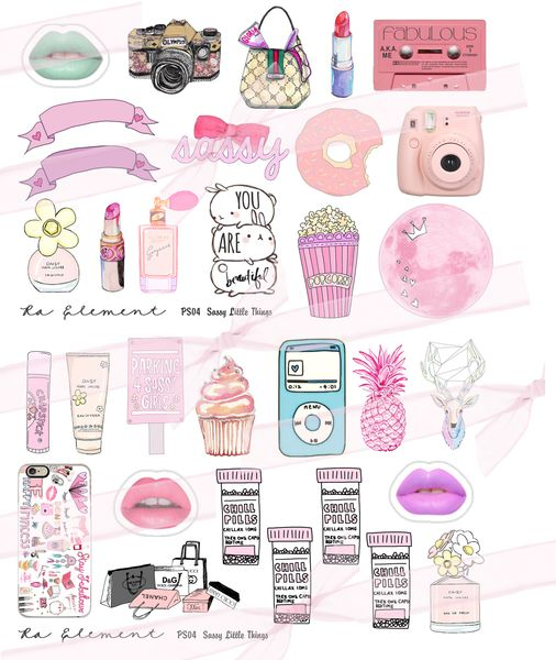 Sassy Little Things...new planner stickers from Ra Element!