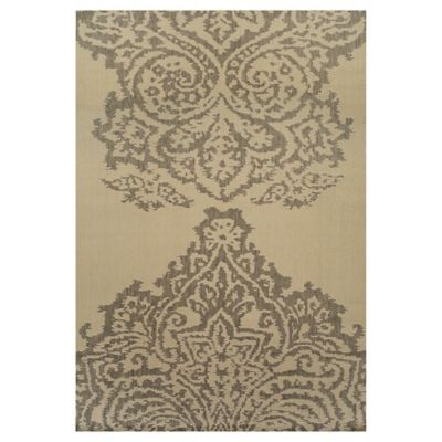 Alfombra Roma blanco y gris 220x320 cm