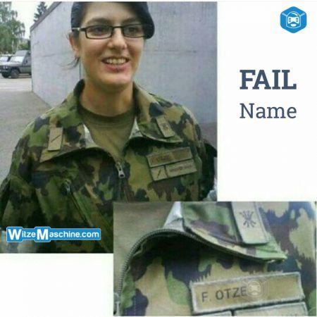 Bundeswehr Witze - Peinlicher Name - Weiblicher Soldat - Fotze