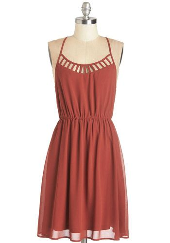On Your Lunch Break Dress in Vermillion. As you make your way to the restaurant in this vermillion-hued dress, you find theres quite a skip of excitement in your step! #orange #modcloth