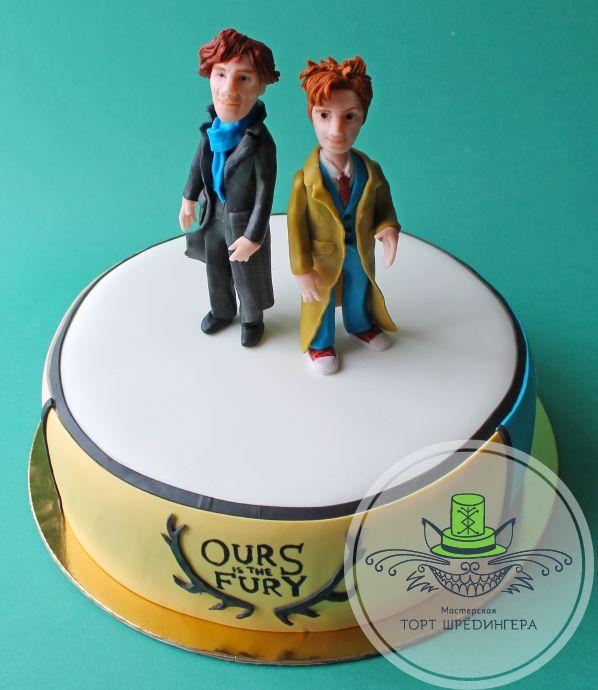 Шерлок, Кто  #тортшрёдингера #торт #cake