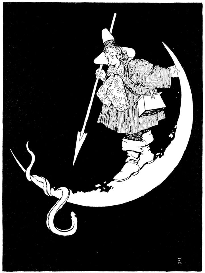 "Illustration from ""The Water-Babies"". W. Heath Robinson. 1915. Via Thomas Ragon"