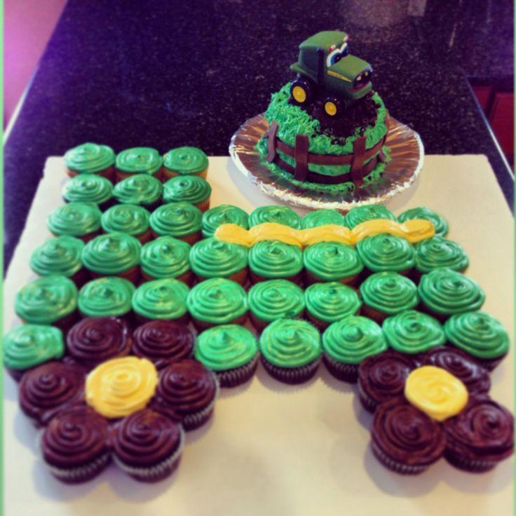John Deere Birthday cupcakes | John Deere cupcake cake and smash cake!