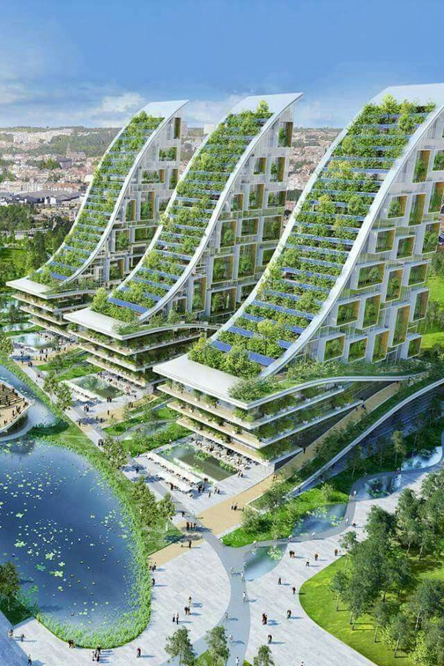 Les 53 meilleures images du tableau architecture et for Architecture futuriste ecologique