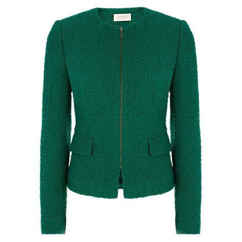 Buy Hobbs Sinead Jacket, Evergreen Online at johnlewis.com