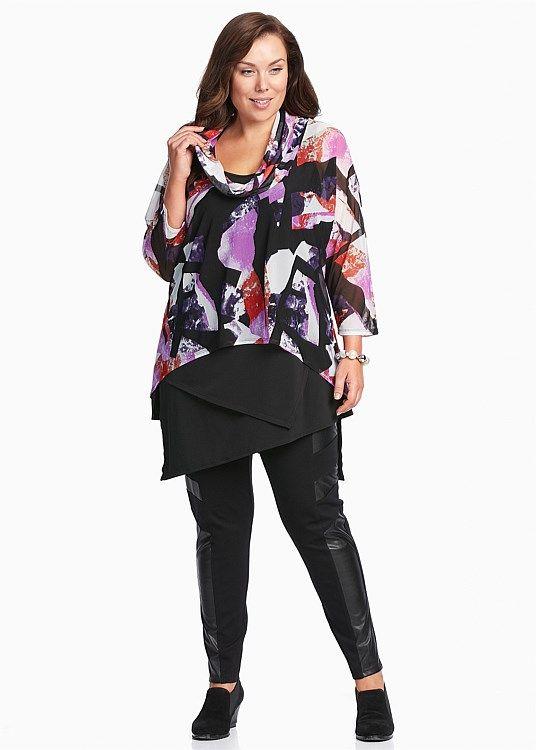 Plus Size Ladies' Tops in Australia - White, Black, Mesh & More - PURPLE HAZE TOP