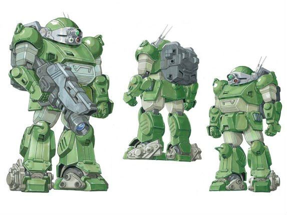 Gangangan Battle Scopedog (Normal and Melkia color) from Armored Trooper VOTOMS   CollectionDX