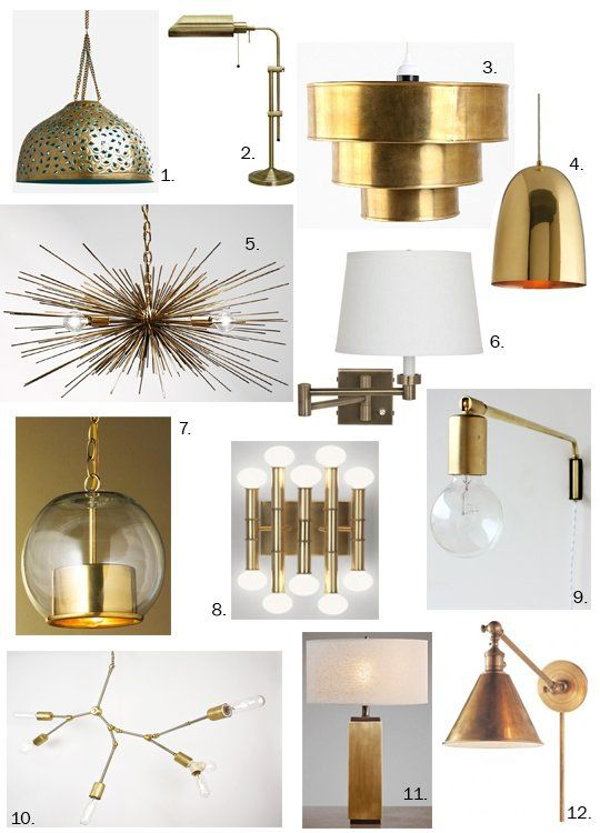 Fabulously Classy Brass Lighting Roundup Doesn T Everyone Need One Modern Brass Fixture