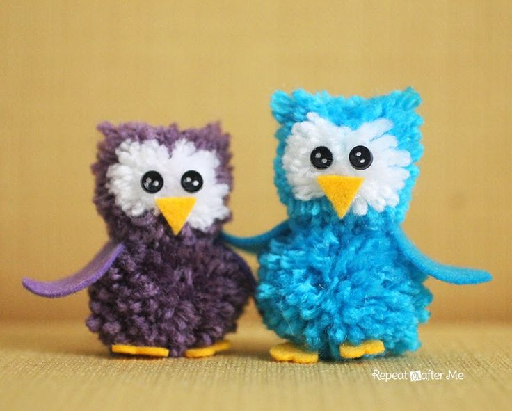 Repeat Crafter Me: Pom Pom Owls