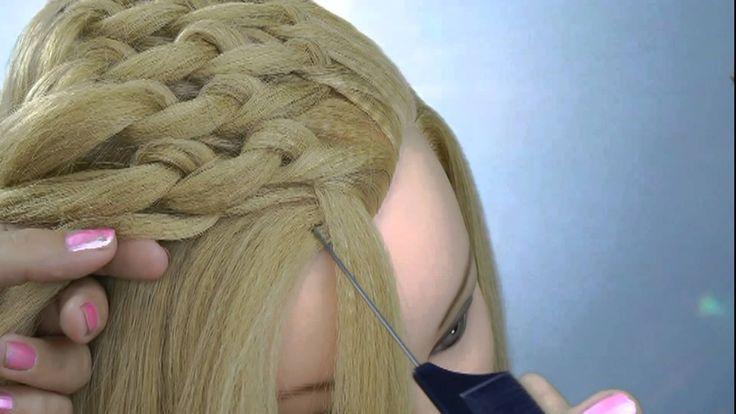 DIY TUTORIAL: Alternative to the basket weave braid, MUCH easier tying/looping-the-hair method      делать прическу из волос.How delati prychesku of hair.