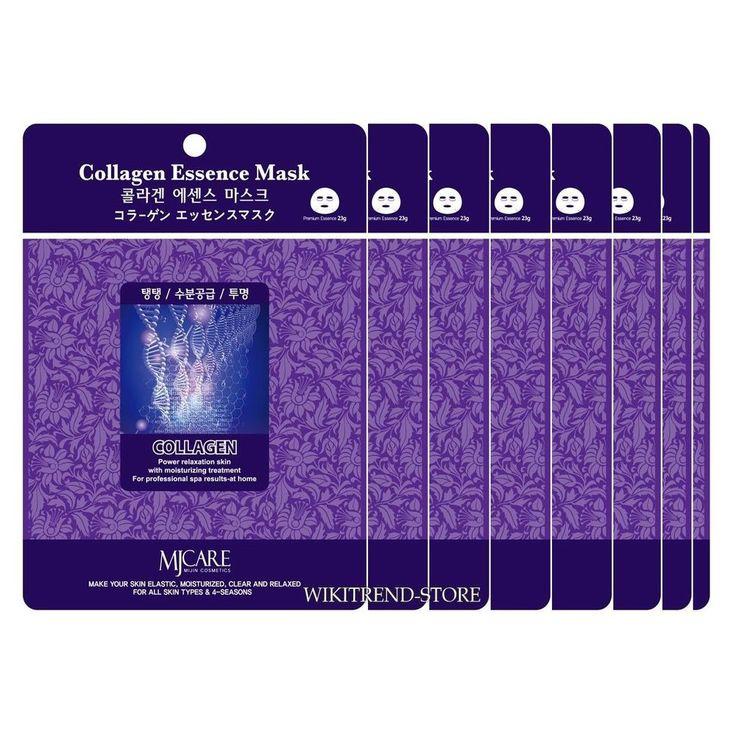 15 pcs Collagen Korea Facial Essence Masks Sheer Pack Skin Care Massage Masque #MijinCareCosmetic