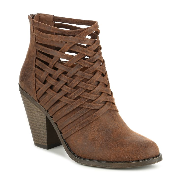 Add some edge to your casual dress with our Weaver Bootie #gordmans #gotitatgordmans #booties #heels