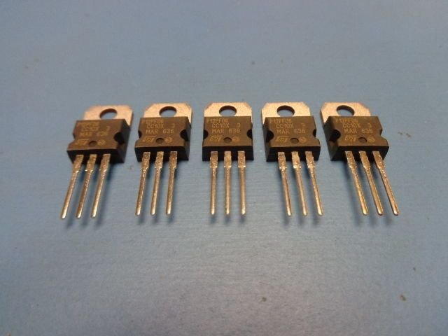 (5) ST MICRO STP12PF06 POWER MOSFET P-CHANNEL 60V 12A TRANSISTOR TO-220 #STMICRO