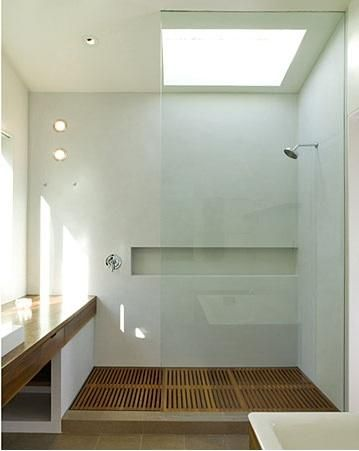 wood shower floor
