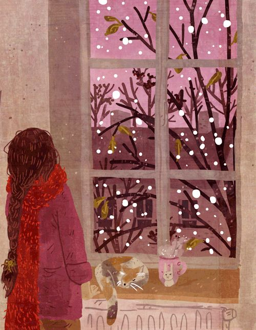 Rose Quartz first snow.  Animated.  GIF.